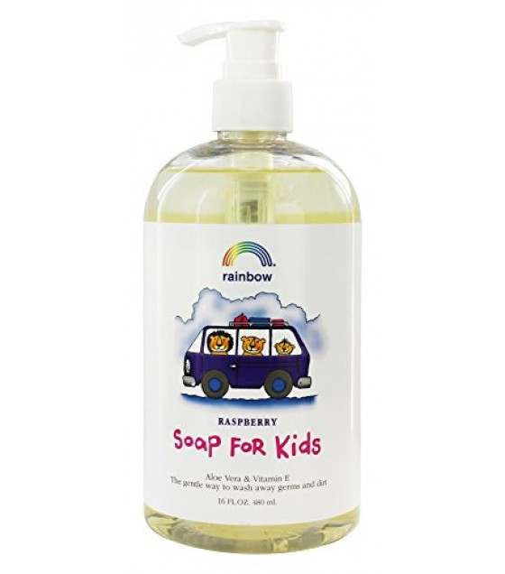[Rainbow Research] Kid`s Products Liquid Soap, Antibacterial, Raspberry