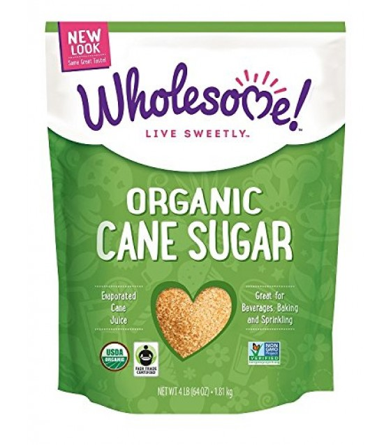 [Wholesome Sweeteners] Fair Trade Certified Sugars Evaporated Cane Juice, Organic  At least 95% Organic