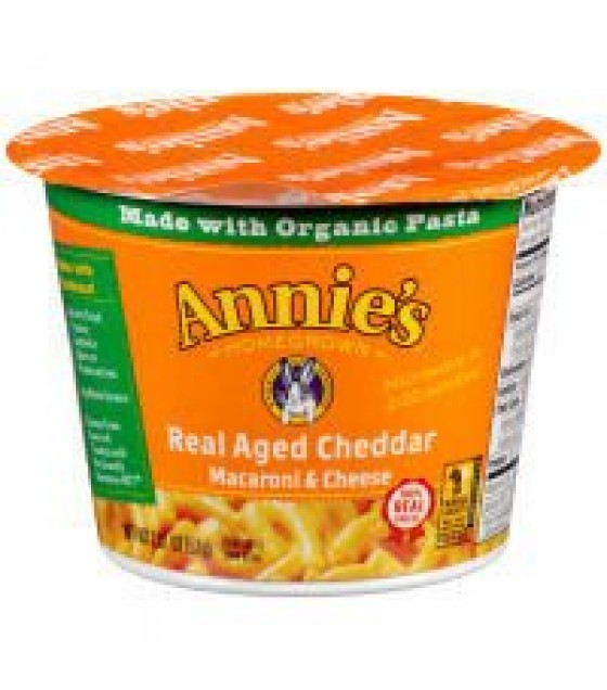 [Annie`S Homegrown] Microwavable Single Servings Real Aged Cheddar Mac n Cheese