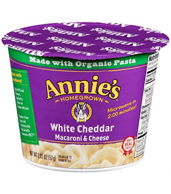 [Annie`S Homegrown] Microwavable Single Servings White Chedar Mac n Cheese