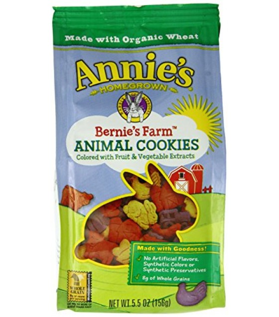 [Annie`S Homegrown]  Cookies,Bernie Farm Animals  At least 70% Organic