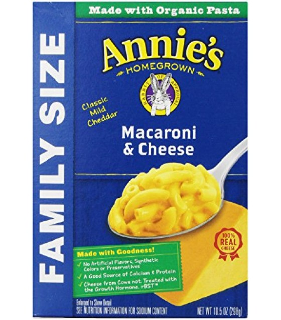 [Annie`S Homegrown] Natural Mac & Cheese Classic Mac & Cheese Family Size  At least 70% Organic