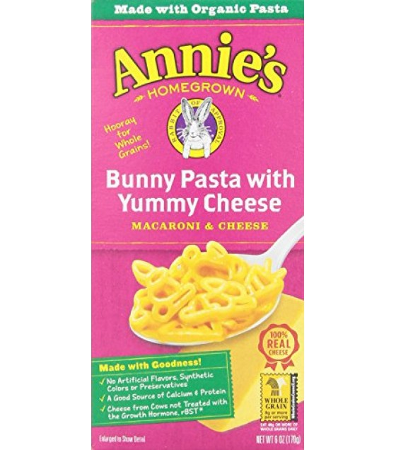 [Annie`S Homegrown] Natural Mac & Cheese Bunny Shaped Pasta & Yummy Cheese