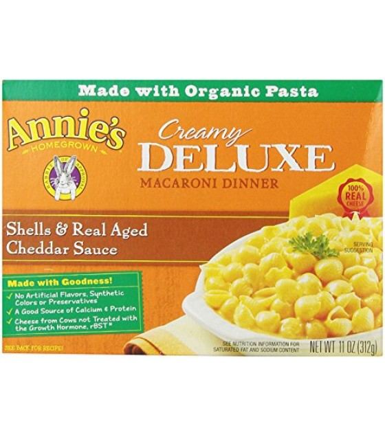 [Annie`S Homegrown] Deluxe Mac & Cheese Shells & Aged Cheddar  At least 70% Organic