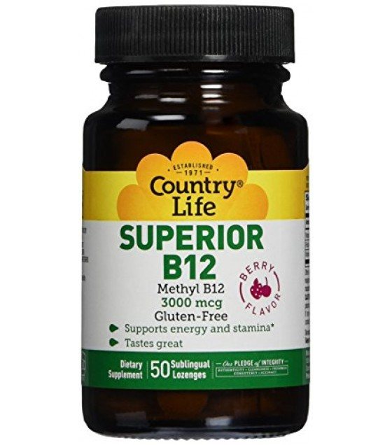 [country Life Vitamins] Superior B-12 Lozenges