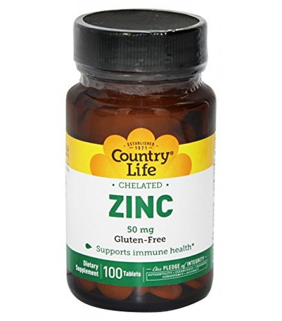 [country Life Vitamins] Chelated Zinc 50 Mg