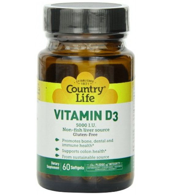 [country Life Vitamins] Vitamin D3,5000 Iu