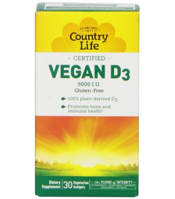 [country Life Vitamins] Vegan D3,5000iu