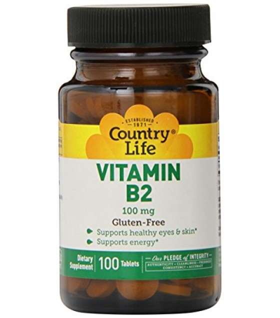 [country Life Vitamins] Vitamin B-2,100 Mg
