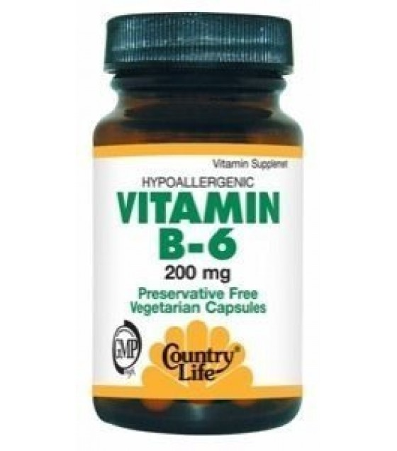 [country Life Vitamins] Vitamin B-6,200 Mg