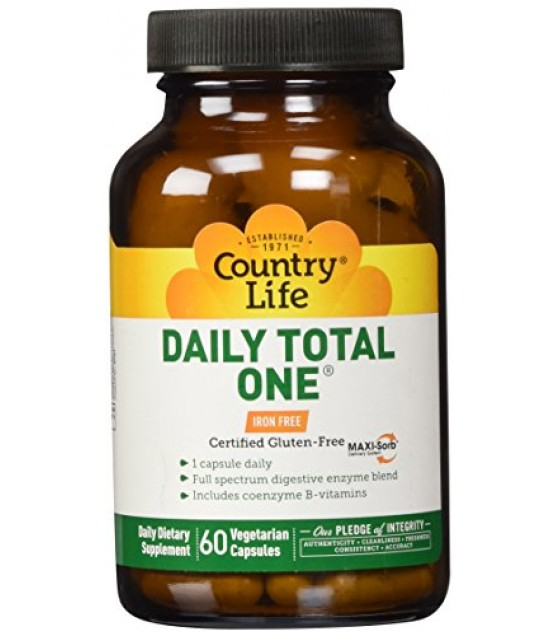 [country Life Vitamins] Daily Total One,iron Free