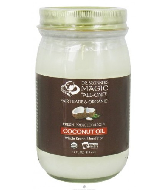 [Dr. Bronner`S] Organic Coconut Oils White Kernel, Virgin  At least 95% Organic