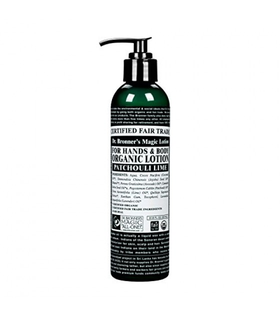 [Dr. Bronner`S] Organic Lotions Patchouli Lime  At least 95% Organic