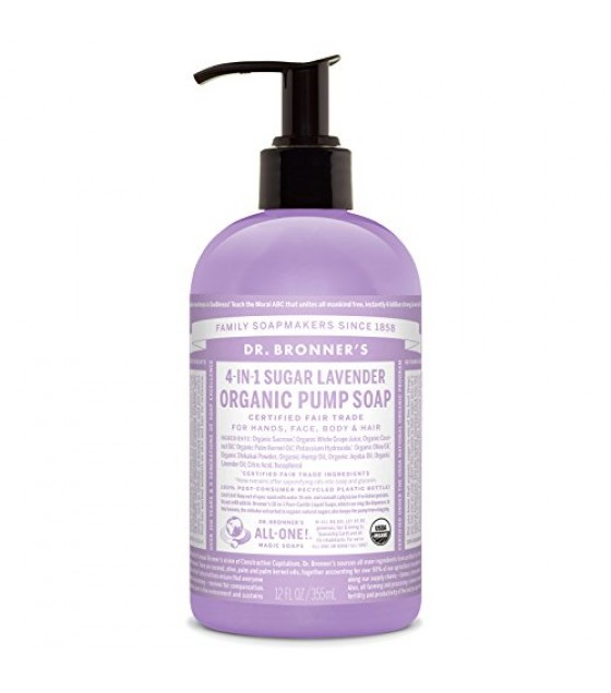 [Dr. Bronner`S] Organic Liquid Hand Soaps Lavender  At least 95% Organic