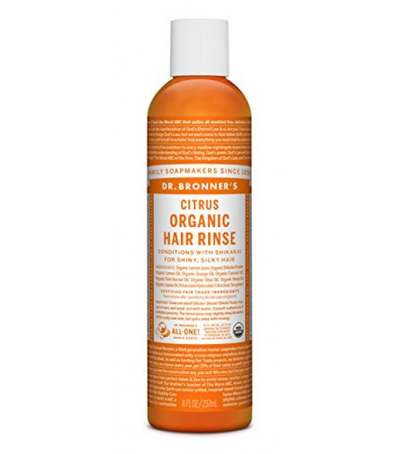 [Dr. Bronner`S] Organic Hair Conditioning Rinse Citrus  At least 95% Organic