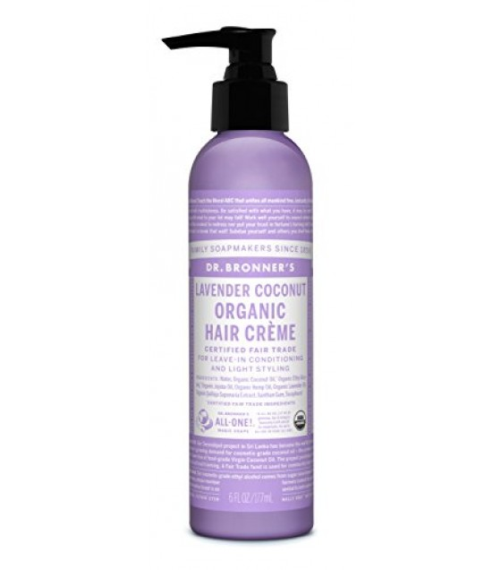 [Dr. Bronner`S] Organic Hair Conditioner & Style Creme Lavender Coconut  At least 95% Organic