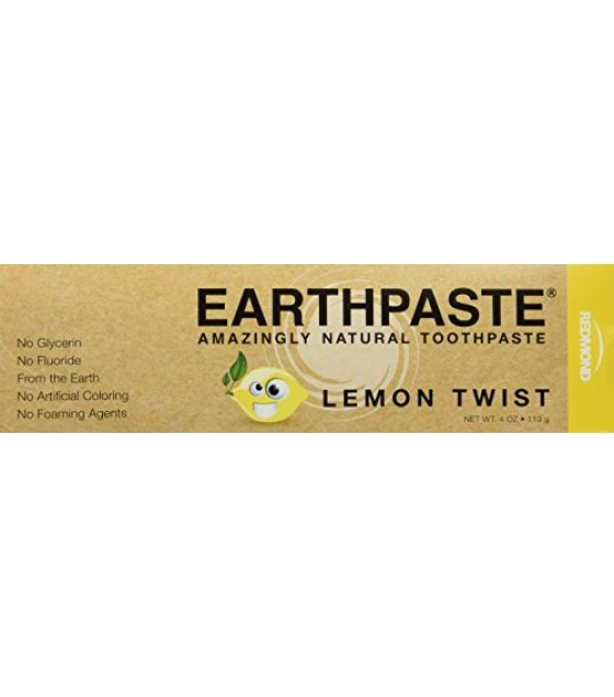 [Redmond Clay] Oral Care Earth Paste, Lemon Twist