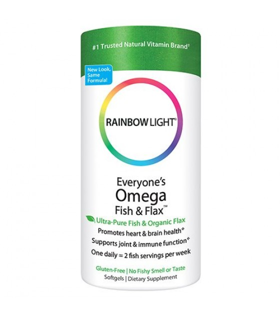 [Rainbow Light] Common Health Concerns Everyones Omega, Fish & Flax Oil