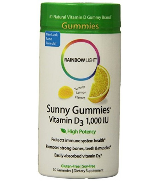 [Rainbow Light] Women & Children Sunny Gummies, Vitamin D, 1000 IU