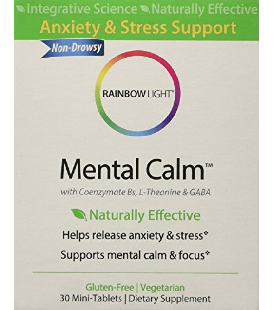 [Rainbow Light]  Mental Calm, Anxiety & Stress Support