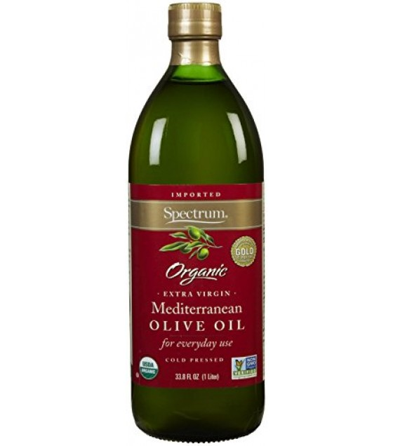 [Spectrum Naturals] Extra Virgin Olive Oil Mediterranean, Unrefined  At least 95% Organic