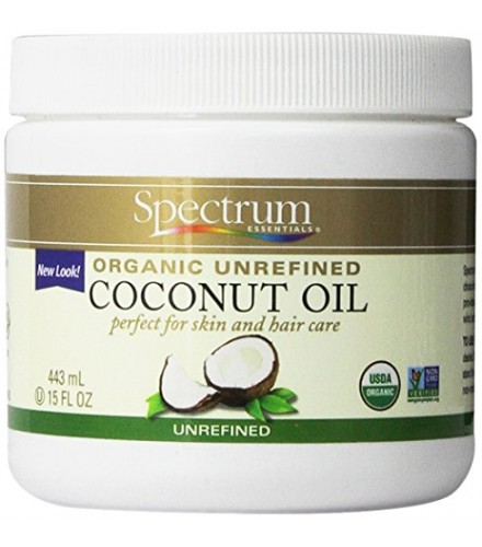 [Spectrum Essentials] Skin Care Coconut Oil, Unrefined  At least 95% Organic
