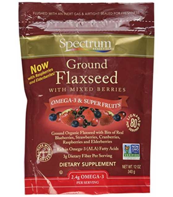 [Spectrum Essentials] Flaxseed Ground With Mixed Berries  At least 70% Organic