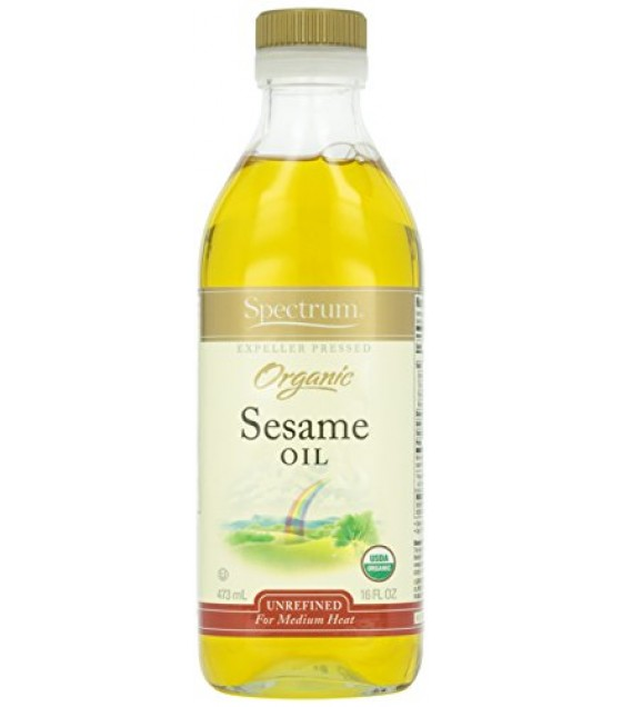 [Spectrum Naturals] Oils Sesame,  Unrefined  At least 95% Organic