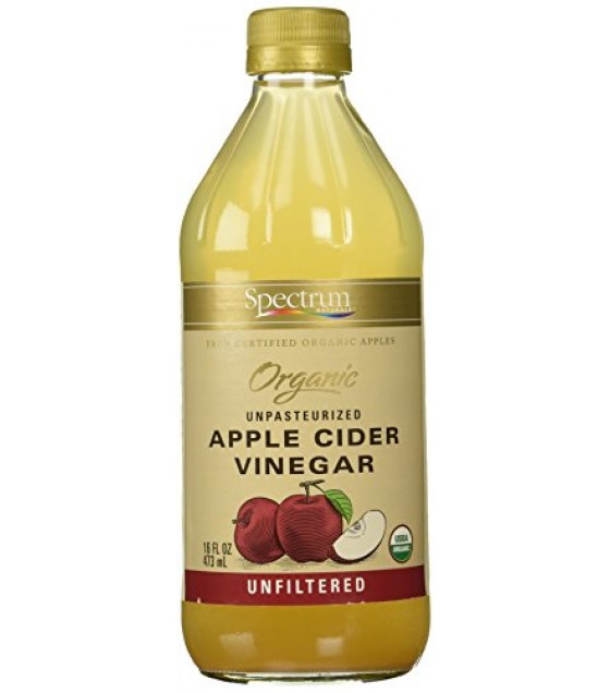 [Spectrum Naturals] Vinegar Apple Cider, Raw, Unfiltered  At least 95% Organic