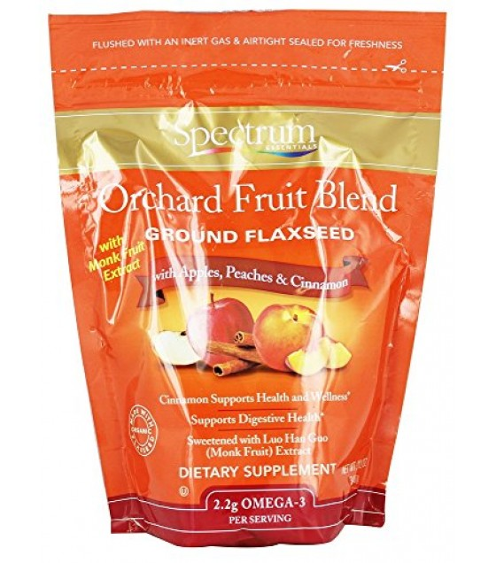 [Spectrum Essentials] Flaxseed Ground, Orchard Fruit Blend  At least 70% Organic