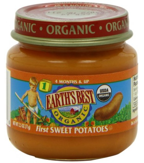 [Earth`S Best Baby Foods] Beginner Baby Foods First Sweet Potatoes  At least 95% Organic