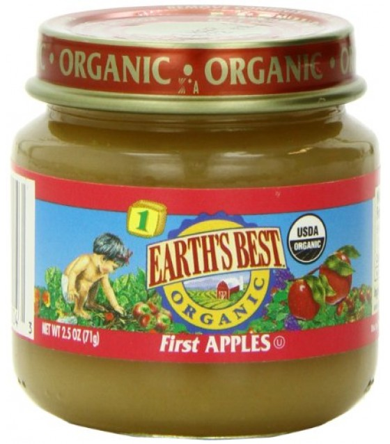 [Earth`S Best Baby Foods] Beginner Baby Foods First Apples  At least 95% Organic