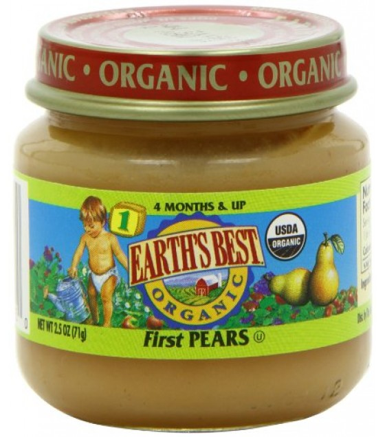[Earth`S Best Baby Foods] Beginner Baby Foods First Pears  At least 95% Organic