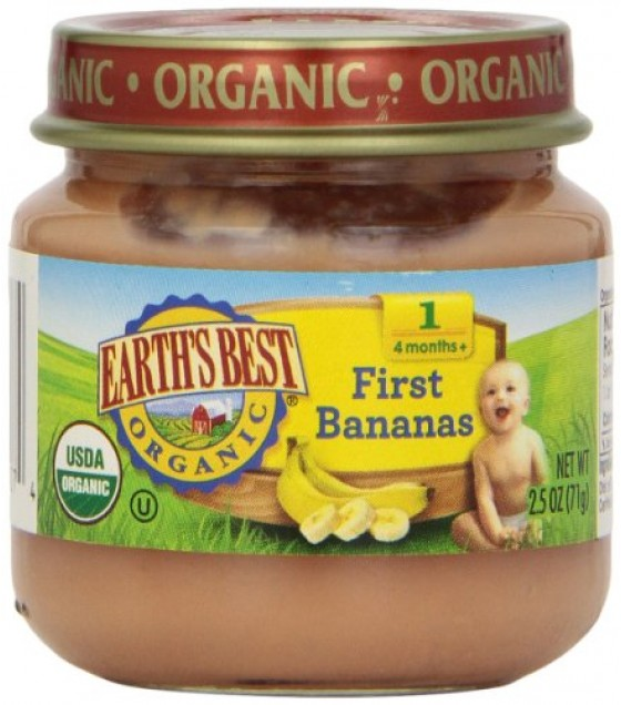 [Earth`S Best Baby Foods] Beginner Baby Foods First Bananas  At least 95% Organic