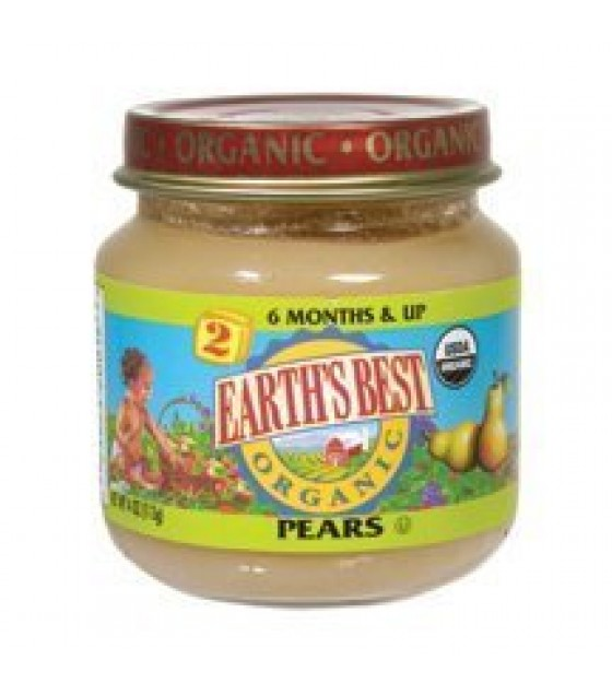 [Earth`S Best Baby Foods] Fruit & Vegetables Pears  At least 95% Organic