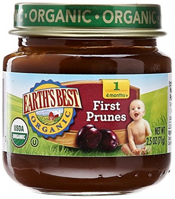 [Earth`S Best Baby Foods] Beginner Baby Foods First Prunes  At least 95% Organic