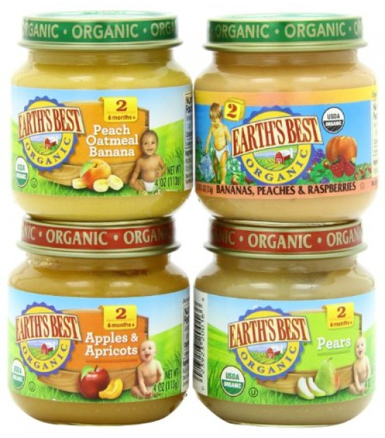 [Earth`S Best Baby Foods] Fruit & Vegetables Favorite Fruits Variety Pack  At least 95% Organic
