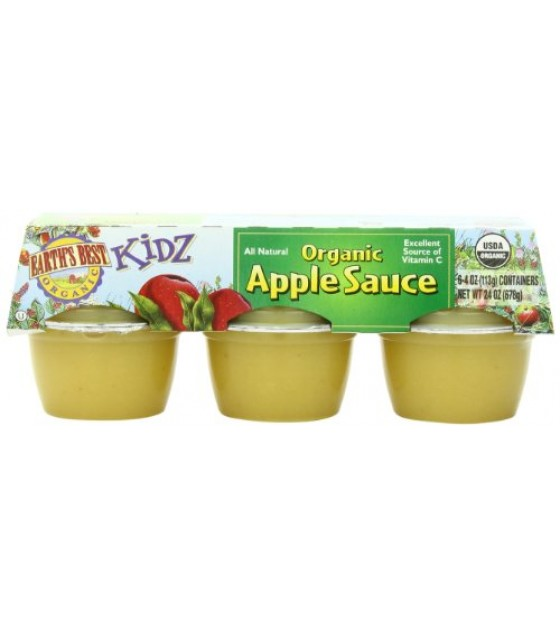 [Earth`S Best Baby Foods] Fruit & Vegetables Apple Sauce Cups  At least 95% Organic