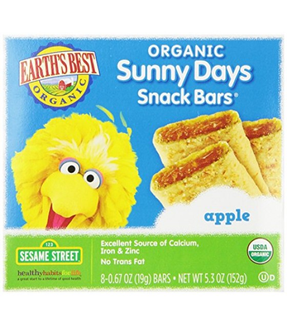 [Earth`S Best Baby Foods] Sesame Street Line Apple Snack Bars  At least 95% Organic