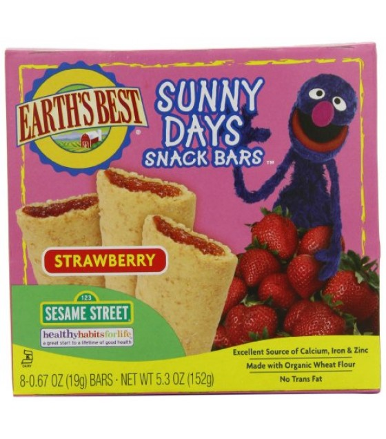 [Earth`S Best Baby Foods] Sesame Street Line Strawberry Snack Bars  At least 95% Organic
