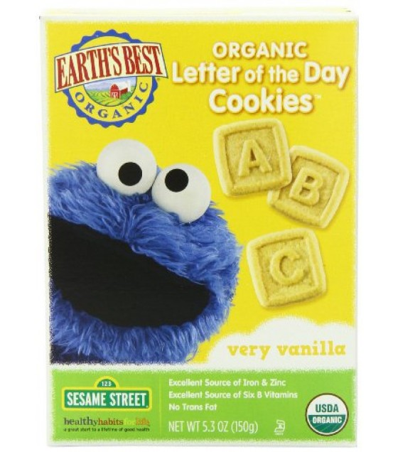 [Earth`S Best Baby Foods] Sesame Street Line Very Vanilla Cookies  At least 95% Organic