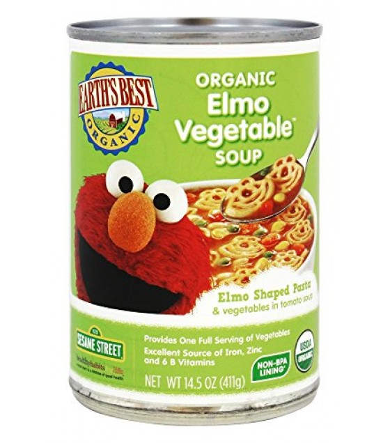 [Earth`S Best Baby Foods] My First Soups Elmo Vegetable  At least 95% Organic