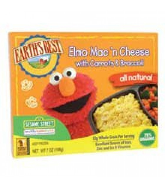[Earth`S Best Baby Foods] Sesame Street Line Elmo Mac `n Cheese, All Natural  At least 70% Organic