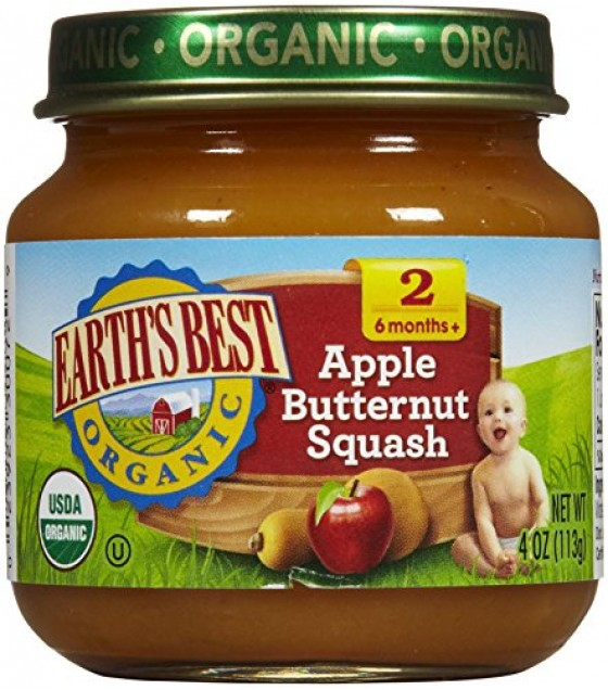 [Earth`S Best Baby Foods] Antioxidant Baby Food Apple Butternut Squash  At least 95% Organic