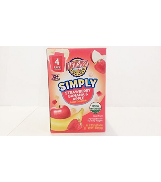 [Earth`S Best Baby Foods] Fruit & Vegetables Simply, Strawberry, Ban & Apple  At least 95% Organic