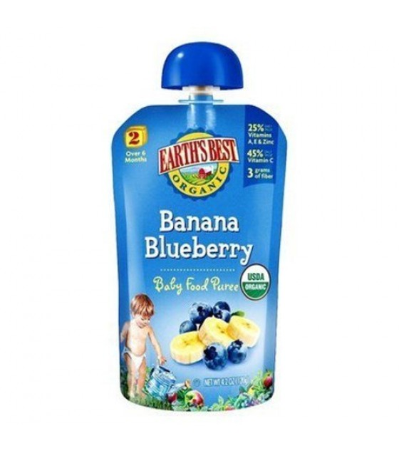 [Earth`S Best Baby Foods] Wholesome Breakfast Blueberry Banana  At least 95% Organic
