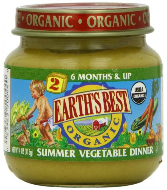 [Earth`S Best Baby Foods] Fruit & Vegetables Summer Vegetable Dinner  At least 95% Organic