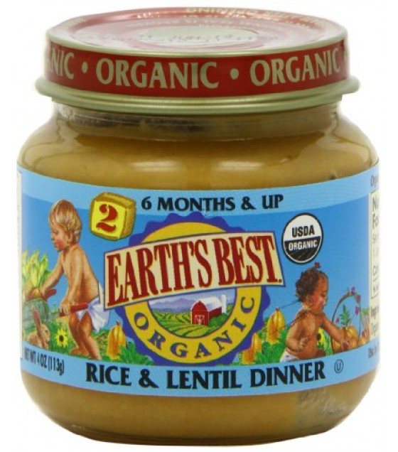 [Earth`S Best Baby Foods] Fruit & Vegetables Rice & Lentil  At least 95% Organic