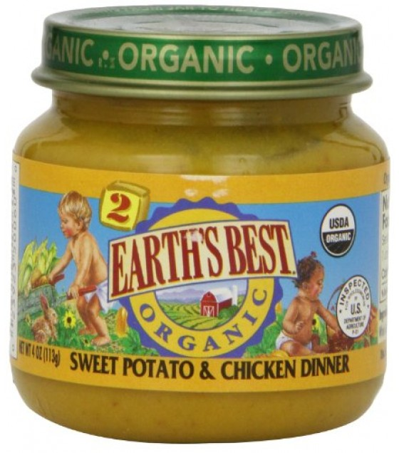 [Earth`S Best Baby Foods] Fruit & Vegetables Sweet Potato & Chicken  At least 95% Organic