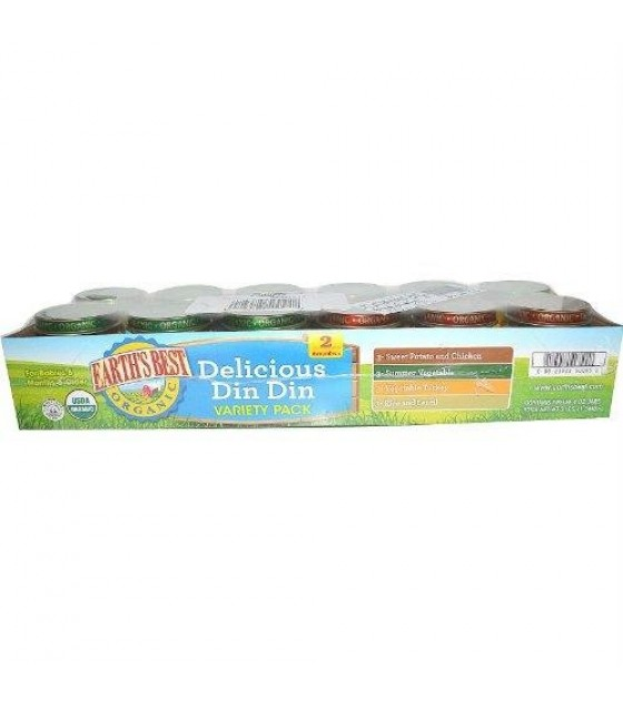 [Earth`S Best Baby Foods] Meat & Vegetable Dinners (6 mos. and older) Delicious Din Din Variety Pack